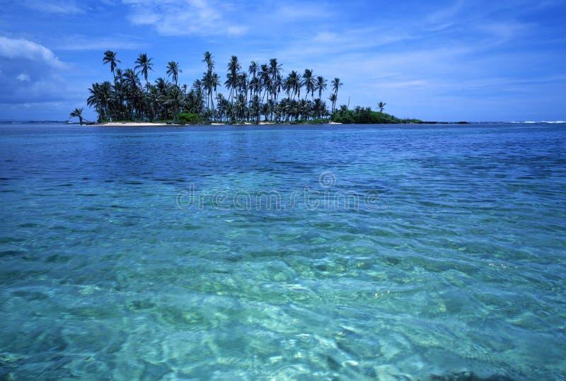 Het Tropische Eiland van de palm stock afbeelding