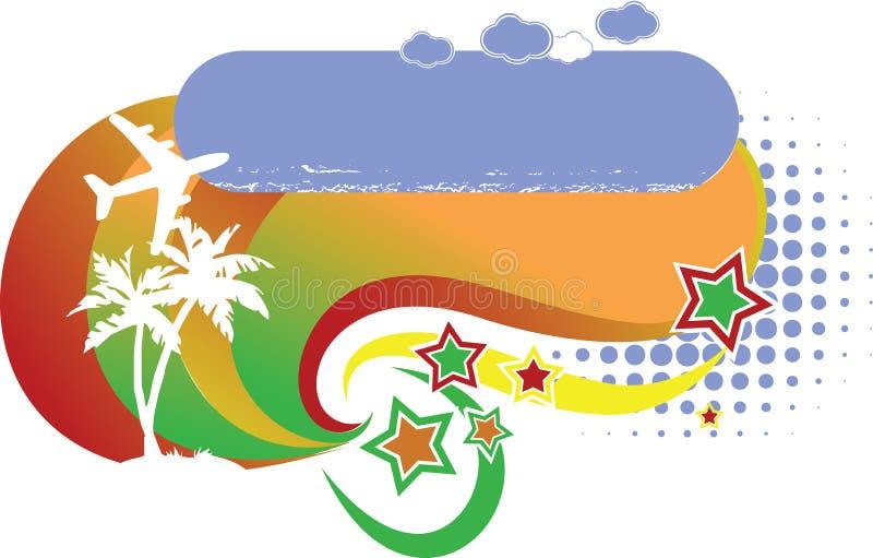 Het tropische Embleem van de Vakantie Avia vector illustratie