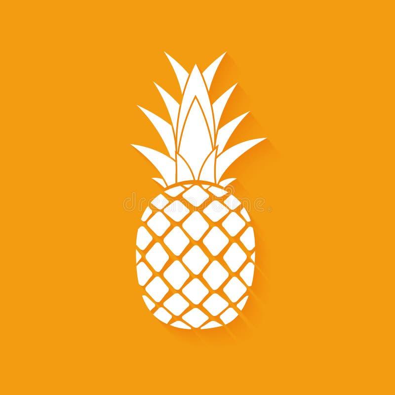 Het tropische ontwerp van het het pictogramsymbool van de fruitananas Vector illustratie stock illustratie