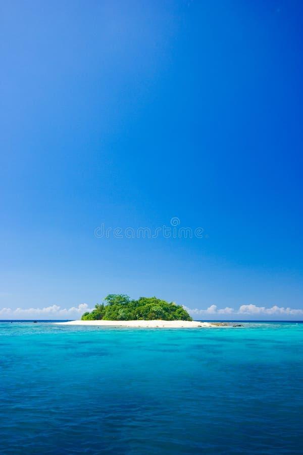 Het tropische paradijs van de eilandvakantie stock afbeeldingen