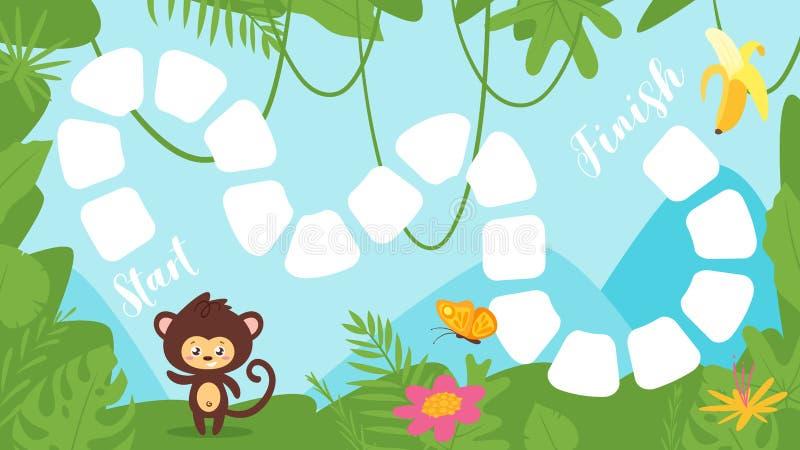 Het tropische spel van de wildernisraad royalty-vrije illustratie