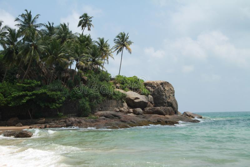 Het tropische strand royalty-vrije stock fotografie