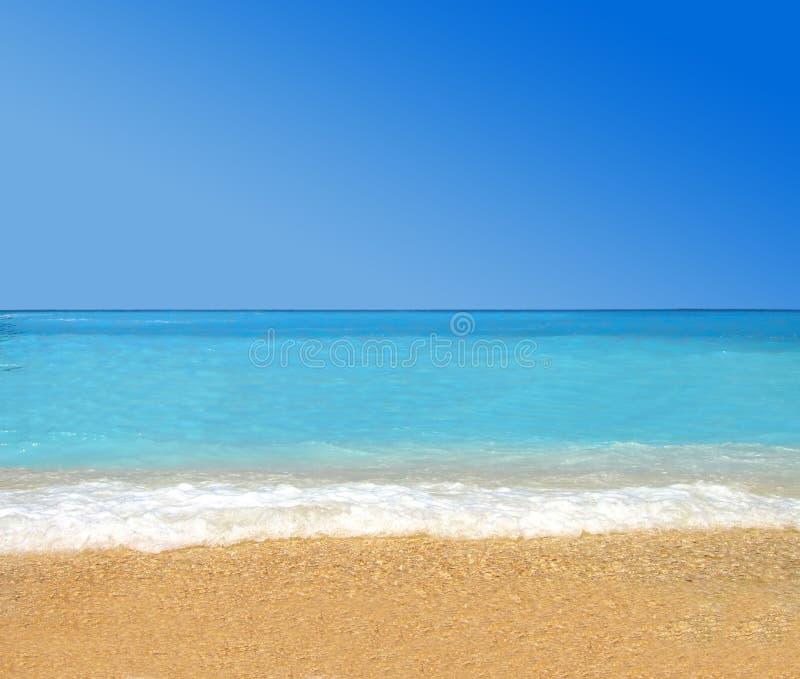 Het tropische strand van het paradijs stock foto's