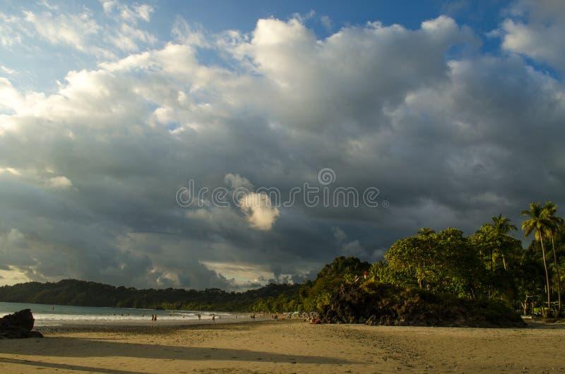 Het tropische strand van Manuel Antonio - Costa Rica stock afbeeldingen