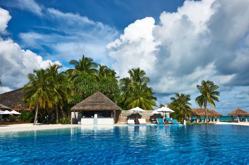 Download Het Tropische Zwembad Van De Luxe Stock Foto - Afbeelding bestaande uit vakantie, landschap: 29504638