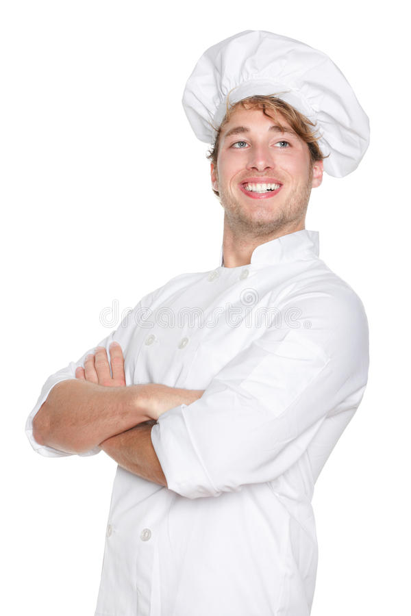 Het trotse portret van de chef-kok stock afbeeldingen