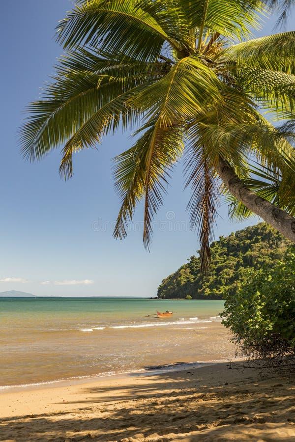 Het Tsarabanjina-eiland in de Mitsio-archipel dichtbij Bemoeiziek is, Madagascar stock afbeelding