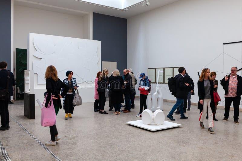 Het Tsjechische en Slowaakse Paviljoen bij de 58ste Internationale Kunsttentoonstelling van Venetië biennale royalty-vrije stock fotografie