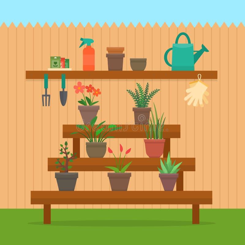 Het tuinieren royalty-vrije illustratie