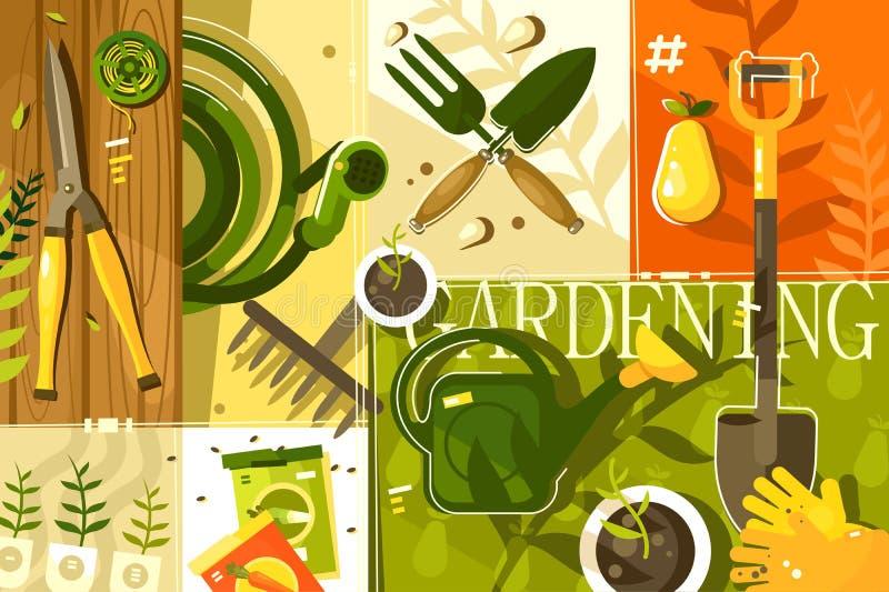 Het tuinieren abstracte achtergrond vector illustratie