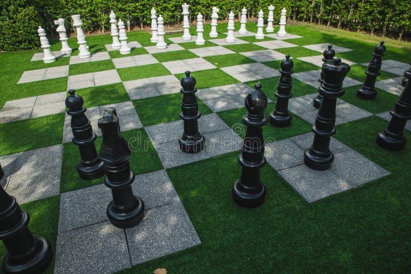 Het tuinieren is een schaakbord stock foto's