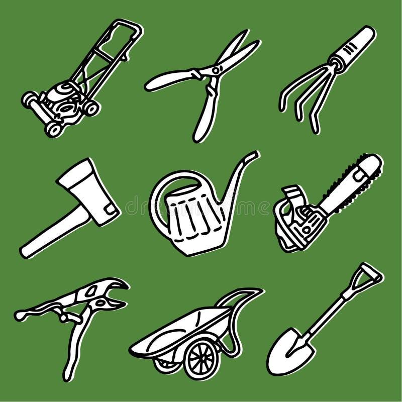 Het tuinieren hulpmiddelen stock illustratie