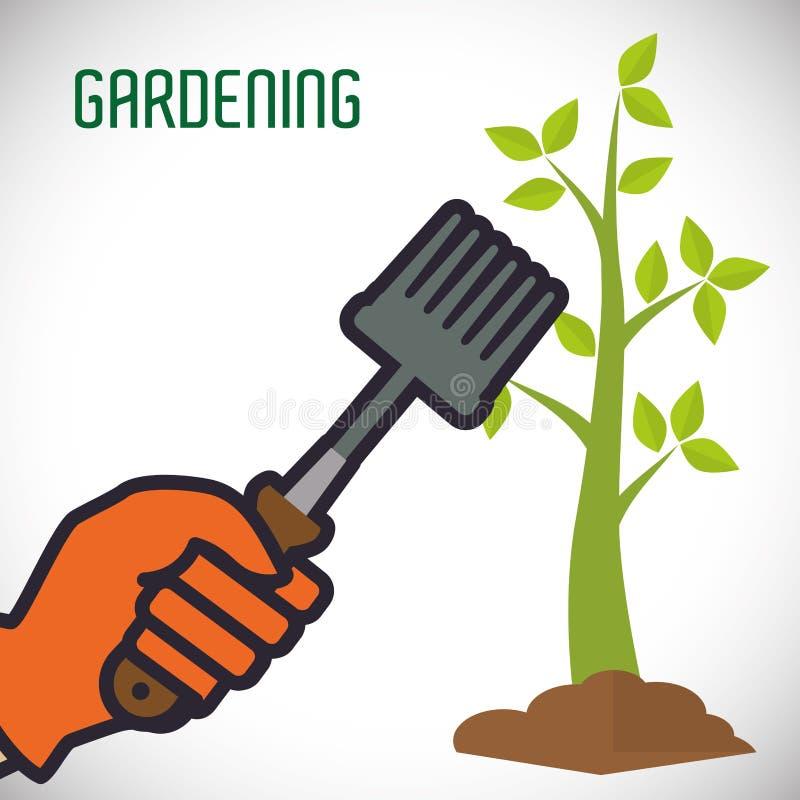 Het tuinieren ontwerp stock illustratie