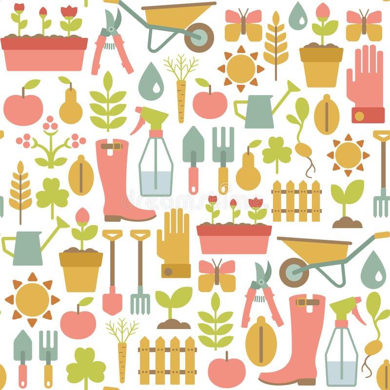 Het tuinieren patroon royalty-vrije illustratie