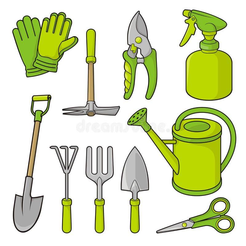Het tuinieren pictogrammen stock illustratie