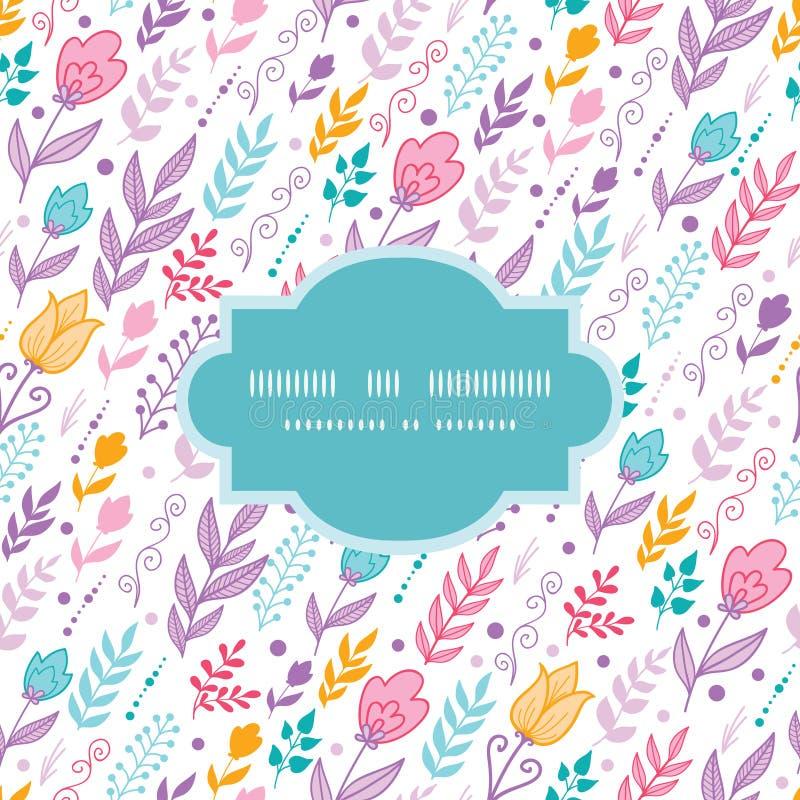 Het tulpengebied bloeit kader naadloos patroon stock illustratie
