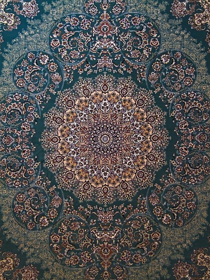 Het Turkooise Perzische Tapijt van Royal Palace stock afbeeldingen