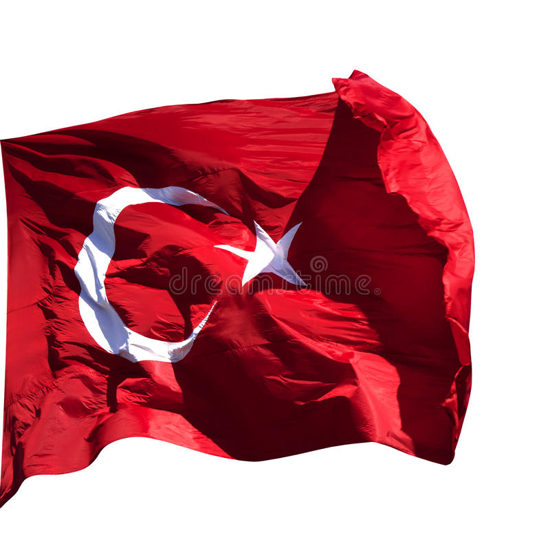 Het Turkse vlag golven royalty-vrije stock afbeelding