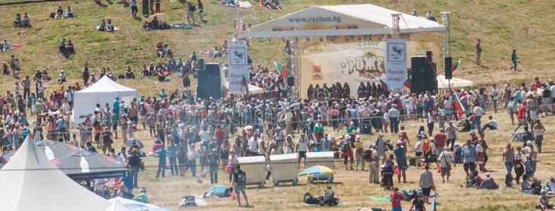 Het tweede Festival 2015 van scènerozhen in Bulgarije royalty-vrije stock afbeeldingen