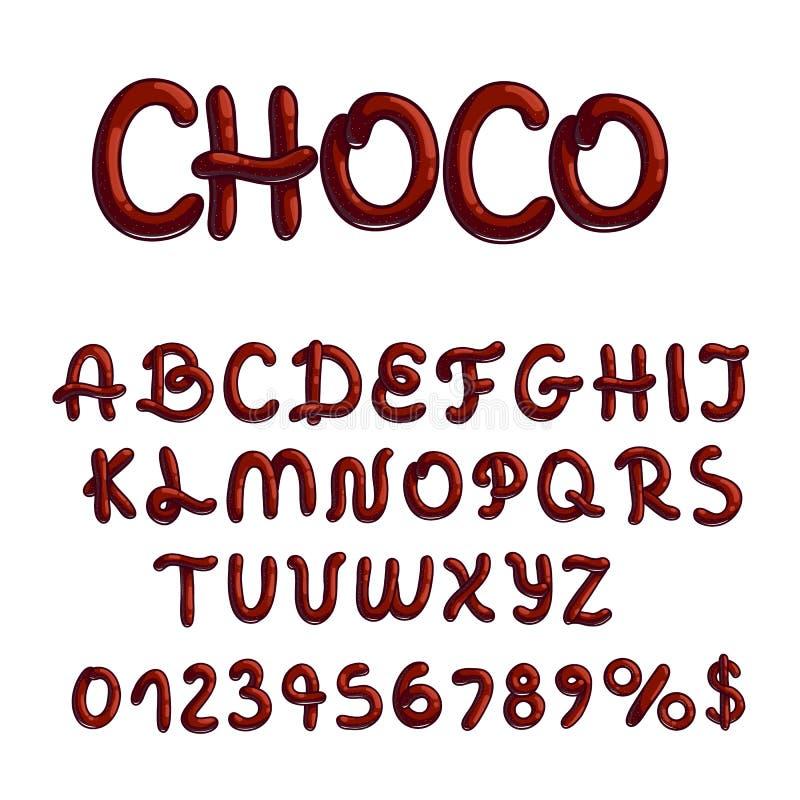 Het type van chocoladedoopvont op witte achtergrond stock afbeelding