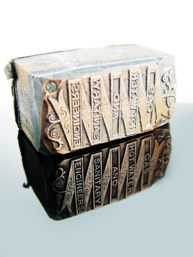 Het Type van letterzetsel - het Blok van de kopbal van de Brief stock afbeeldingen