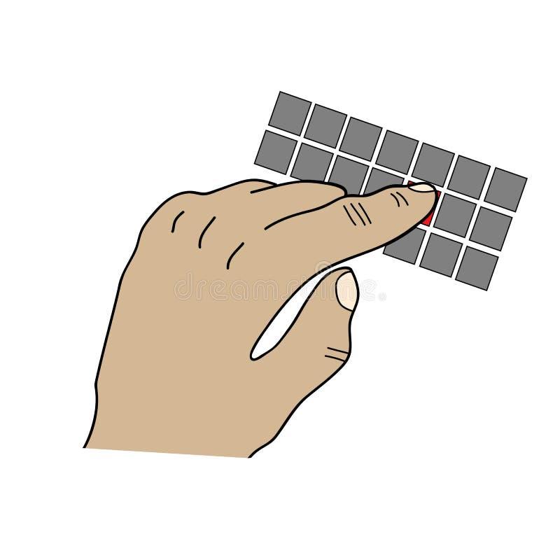 Het typen op toetsenbord stock illustratie