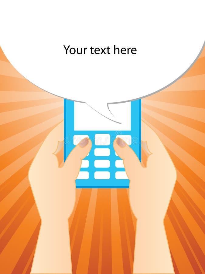 Het typen van een SMS royalty-vrije illustratie