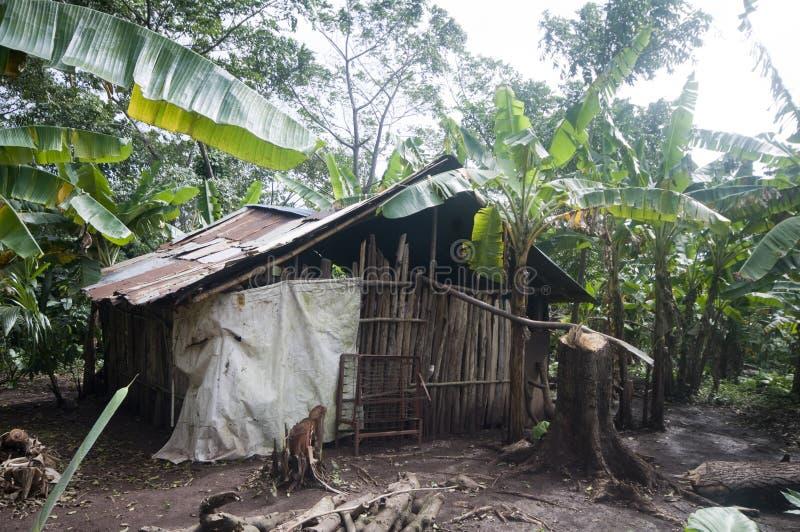 Het typische eiland Nicaragua van het huisgraan royalty-vrije stock afbeeldingen