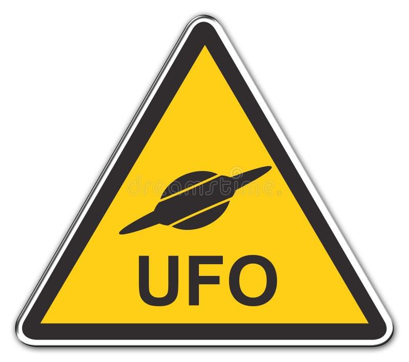 Het UFO van de aandacht stock illustratie
