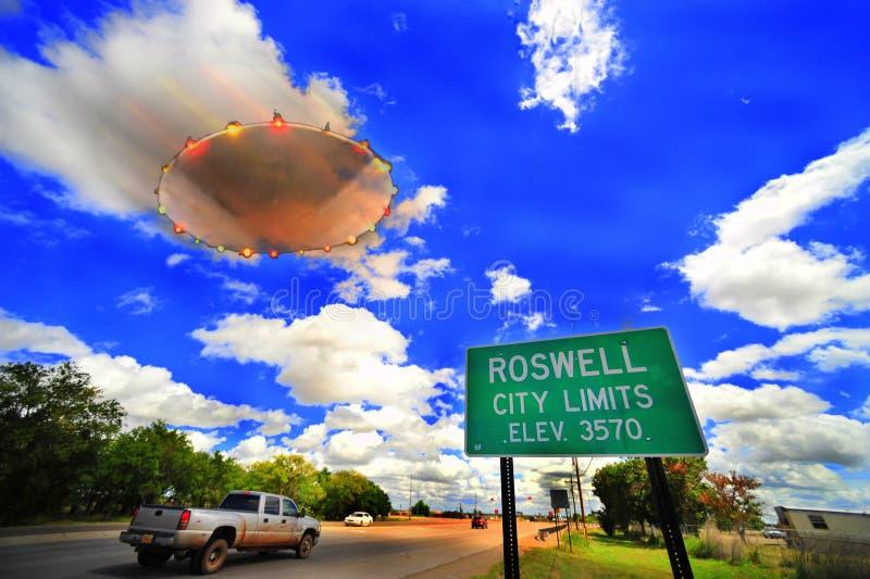 Het UFO van Roswell stock afbeeldingen