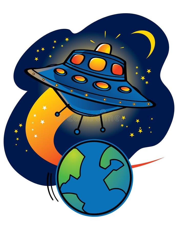 Het UFO van vreemdelingen stock illustratie