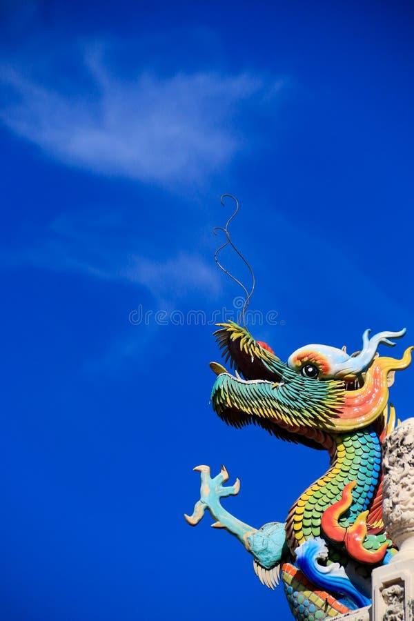 Het uitademen van draak stock afbeelding