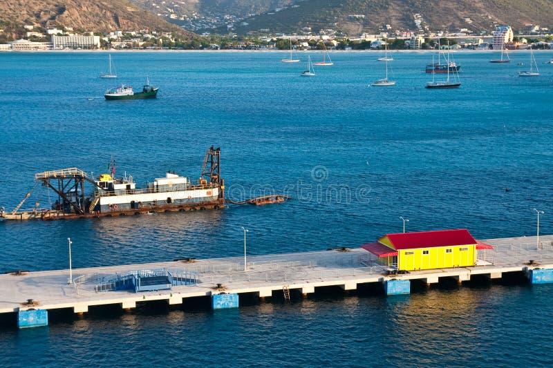Het uitbaggeren van de Haven stock fotografie