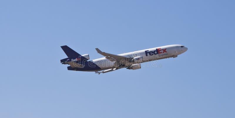 Het Uitdrukkelijke vliegtuig van Fedex stock foto's