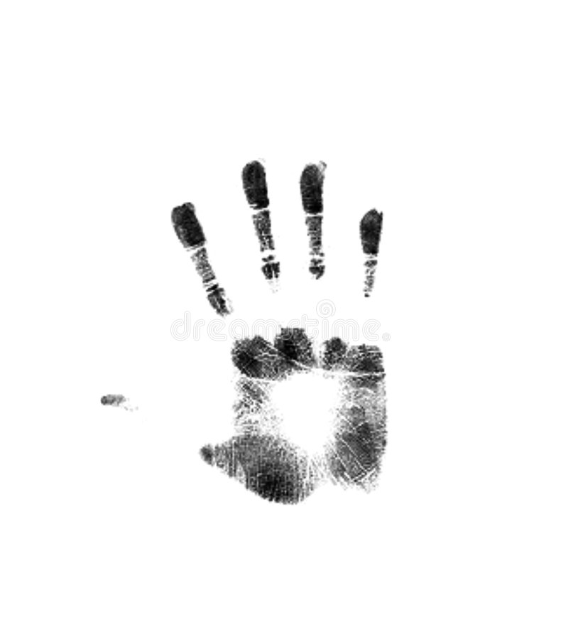 Het uiteinde van de hand stock afbeelding
