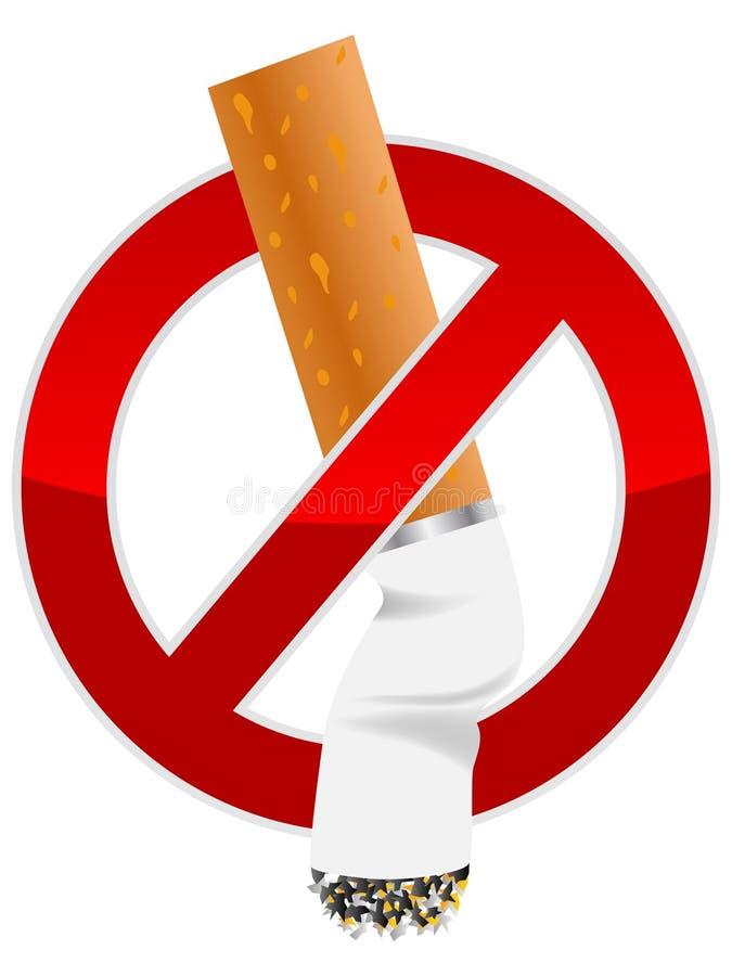 Het uiteinde van de sigaret stock illustratie