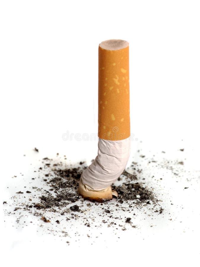 Het uiteinde van de sigaret