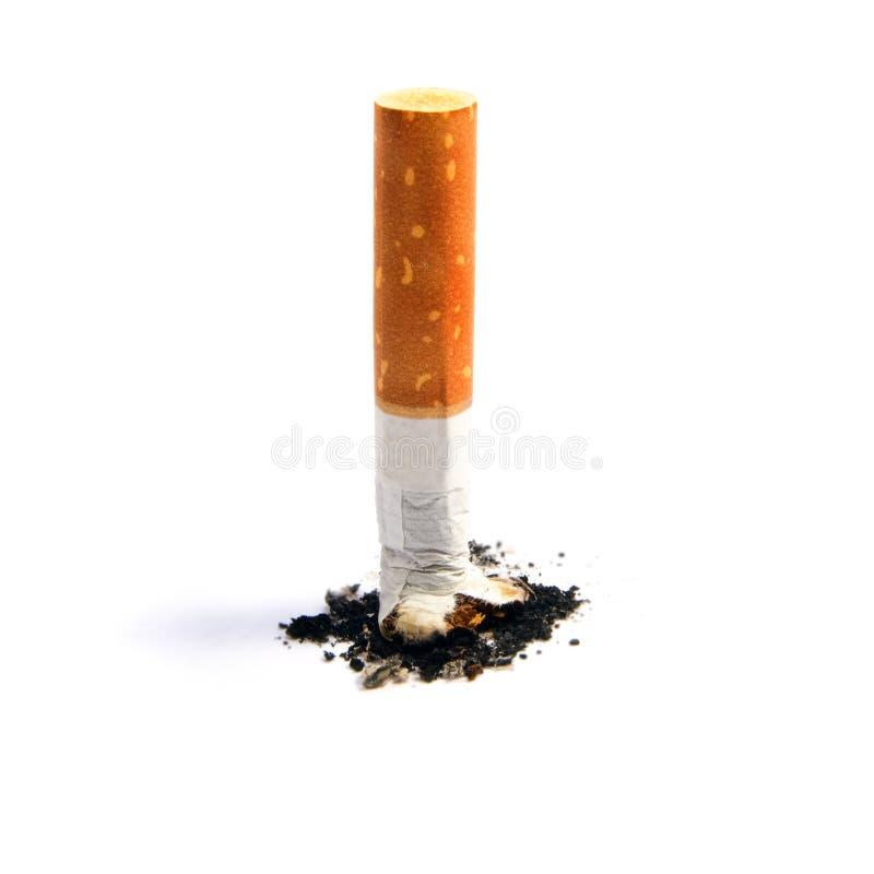 Het uiteinde van de sigaret stock foto
