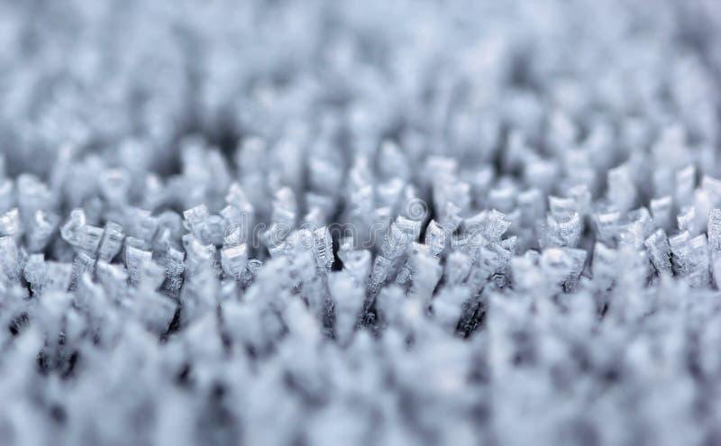Het uiterst kleine van ijskolommen en aren macroschot stock fotografie