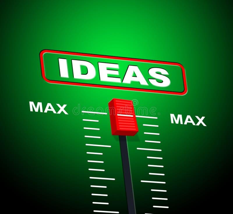 Het Uiterste van ideeënmax means upper limit and stock illustratie