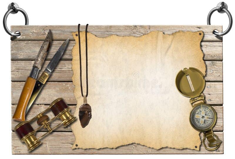 Het Uithangbord van avonturenverhalen stock illustratie