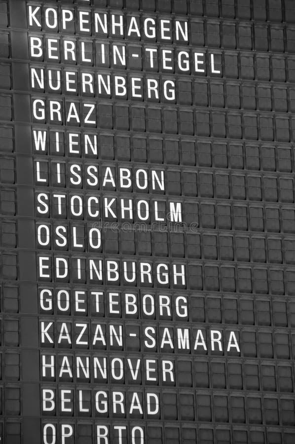Het Uithangbord van de bestemming stock fotografie