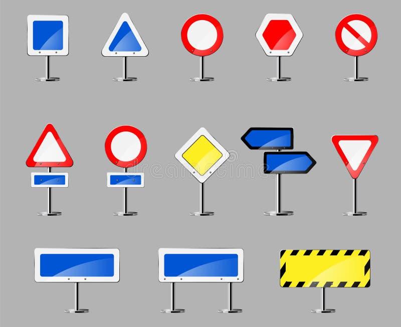 Het uithangbord van de kleurenweg vector illustratie