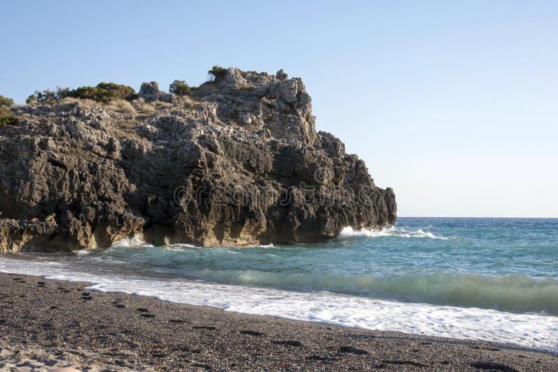 Het uitnodigen strand stock afbeelding