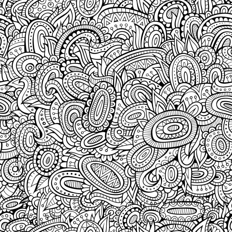 Het uitstekende abstracte sier naadloze patroon van de lijnkunst stock illustratie
