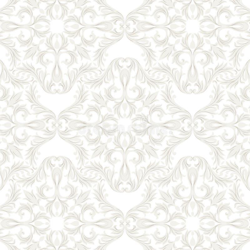 Het uitstekende Barokke patroon van het Rococo'sornament stock illustratie