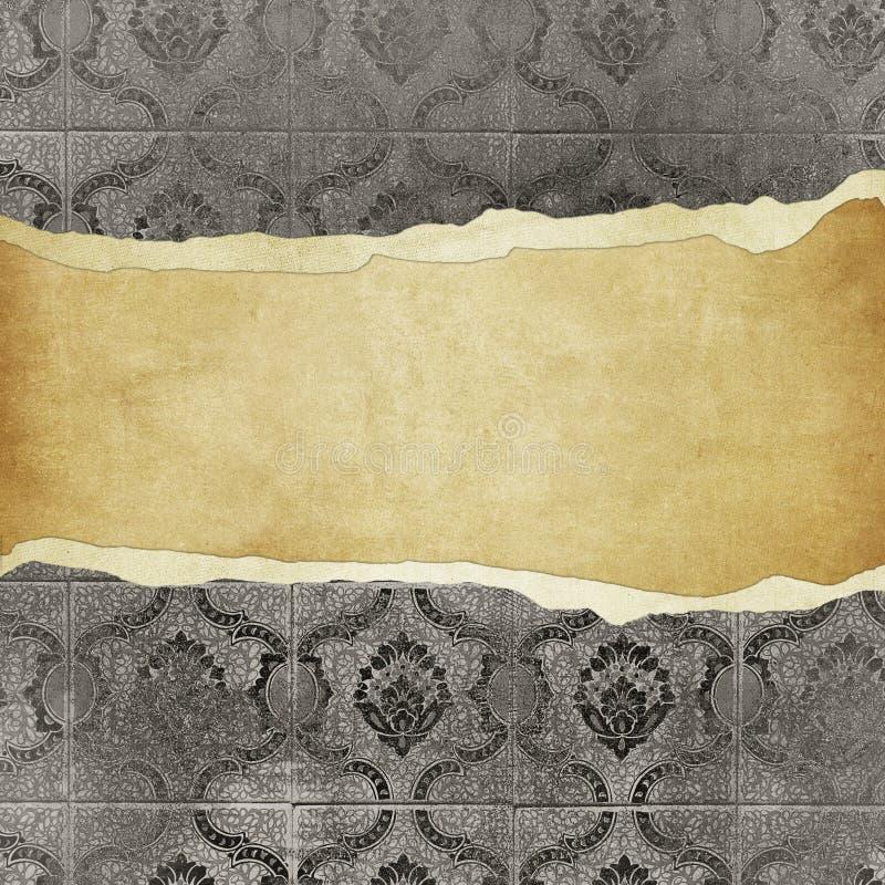 Het uitstekende behang van Grunge - trorn bannner royalty-vrije illustratie
