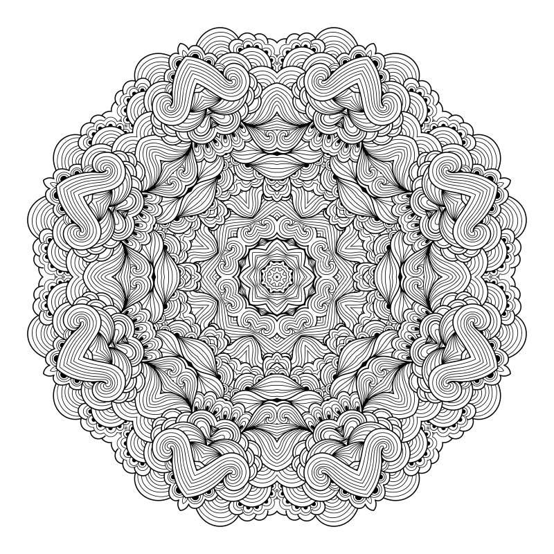 Het uitstekende decoratieve element van de mandalabloem stock illustratie