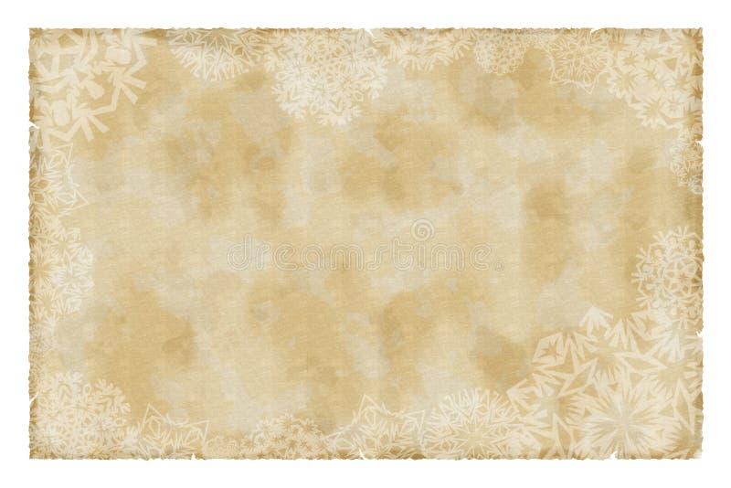 Het uitstekende document van Kerstmis royalty-vrije illustratie