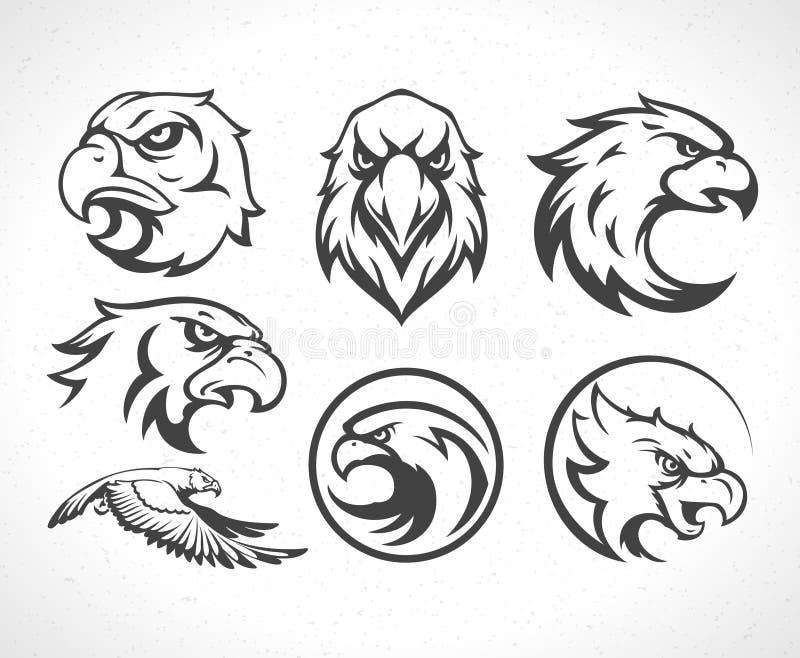 Het uitstekende embleem van Tiger Logotype of van de mascotte stock illustratie